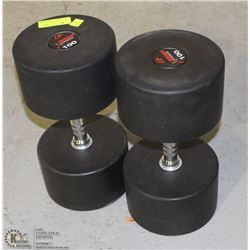 PAIR OF COMMERCIAL GRADE DUMBBELLS 100LBS