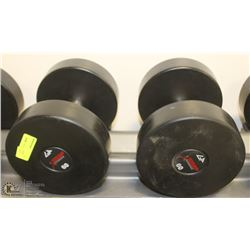 PAIR OF COMMERCIAL DUMBELLS 60LBS