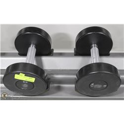 PAIR OF COMMERCIAL DUMBELLS 25LBS