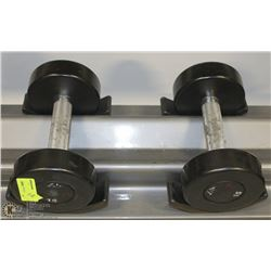 PAIR OF COMMERCIAL DUMBELLS 15LBS
