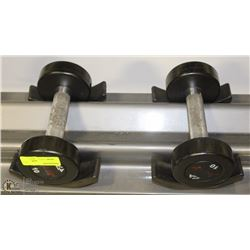 PAIR OF COMMERCIAL DUMBELLS 10LBS