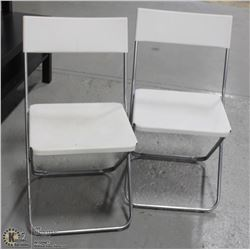 TWO PLATIC CHAIRS FOLDING
