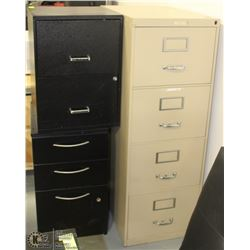 THREE ASSORTED FILE CABINETS WITH CONTENTS