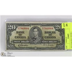 1937 CANADIAN $20 BILL