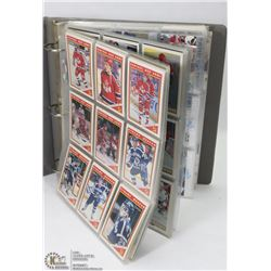 BINDER OF MOSTLY HOCKEY CARDS 300+