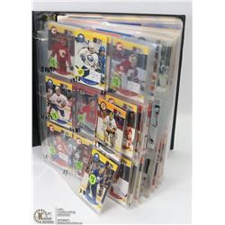 BINDER OF ASSORTED HOCKEY CARDS 500+