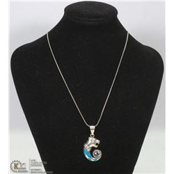 .925 SILVER CHAIN WITH .925 SILVER JAGUAR PENDANT