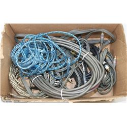 FLAT OF ASSORTED AUDIO CABLES, INCLUDES MONSTER