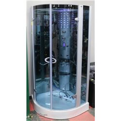 WMK STEAM SHOWER WITH LED LIGHTING, EXHAUST