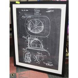 SHOWHOME FRAMED HELMET DIAGRAM PICTURE