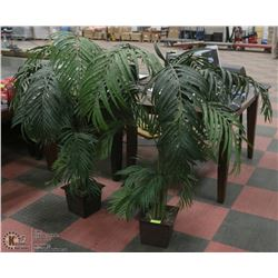 2 ARTIFICIAL PALM TREES IN POTS