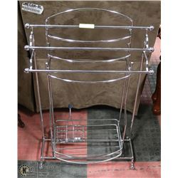 3 STAINLESS STEEL BATHROOM RACKS