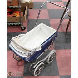 HANDMADE BLUE CHILD CARRIAGE