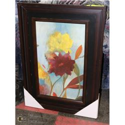 FRAMED FLORAL PICTURE 19 X 28