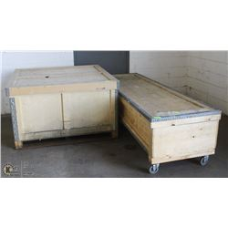 2 HEAVY CRATES OF WALL DISPLAY BOARD W/BRACKETS