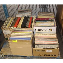 PALLET OF ASSORTED RECORD ALBUMS