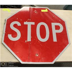 AUTHENTIC METAL STOP SIGN
