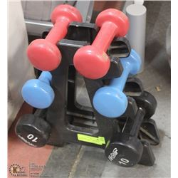 RUBBERIZED WEIGHT SET 2 X 5LBS 2 X 8 LBS 2 X 10 LB