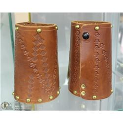LEATHER PAIR OF COWBOY ROPING CUFFS