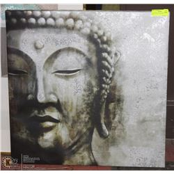 LADY BUDDHA CANVAS PICTURE 26 X 26