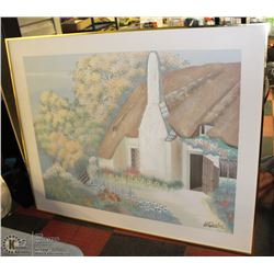 FRAMED CANVAS COUNTRYSIDE HOME PAINTING