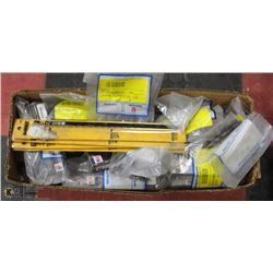 BOX OF ASSORTED DRILL BITS ETC.