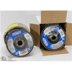 "3 BOXES OF 5"" ABRASIVE ANGLE GRINDER DISCS"