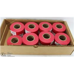 BOX OF RED FLAGGING TAPE