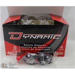CASE OF 10 DYNAMIC SAFETY GLASSES