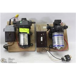2 ELECTRIC WATER PUMPS