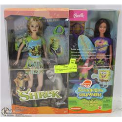 COLLECTOR BARBIES NEW IN BOXES INCL SHREK