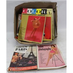 BOX OF 1950S PIN UP GIRL PHOTOGRAPHY MAGAZINES