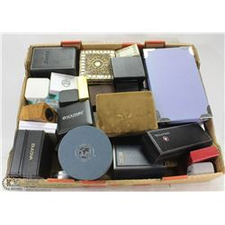 TRAY OF JEWELRY & WATCH CASES OVER 30 INCL