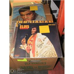 BOX OF ASSORTED CLASSIC ROCK & ROLL RECORDS