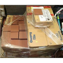 PALLET #4) LOT OF COMMERCIAL  QUARRY TILE (USA)
