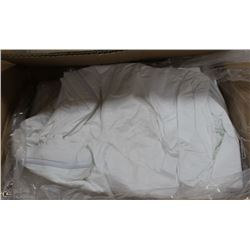 CASE WITH 25 SZ LARGE WHITE DISPOSABLE COVERALLS