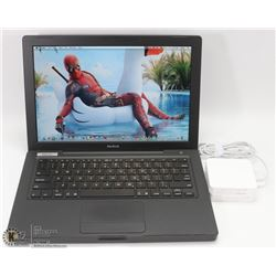 RARE BLACK APPLE MACBOOK LAPTOP W/ WEBCAM
