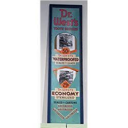 ORIGINAL 1950'S DR. WEST'S TOOTH BRUSH STORE DISPLAY