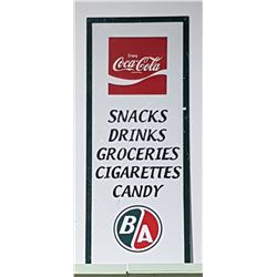 HAND PAINTED COCA COLA B/A OIL CONVENIENCE STORE SIGN