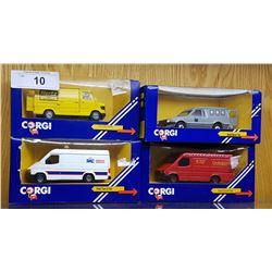 4 CORGI DIE CAST VEHICLES IN UNOPENED BOXES