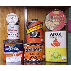 7 VINTAGE COLLECTIBLE TINS