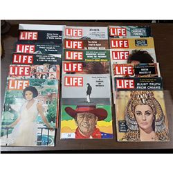 APPROX 14 VINTAGE 1960'S LIFE MAGAZINES