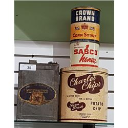4 VINTAGE COLLECTIBLE TINS