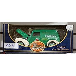 DIE CAST MOUNTAIN DEW 1940 FORD COIN BANK IN UNOPENED BOX