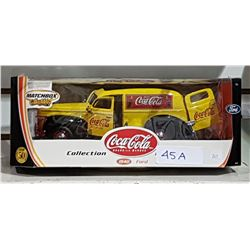 MATCHBOX DIE CAST COCA COLA 1940 FORD IN UNOPENED BOX
