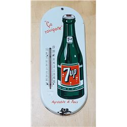 1950'S 7 UP PORCELAIN THERMOMETER