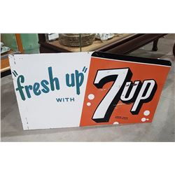 1950'S FRESH UP WITH 7UP METAL SIGN