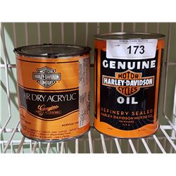 HARLEY DAVIDSON FULL OIL QUART & HARLEY DAVIDSON FULL PAINT QUART