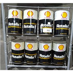 8 FULL SHELL ROTELLA T OIL QUARTS