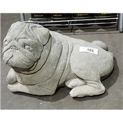 HIGHLY DETAILED CONCRETE PUG STATUE